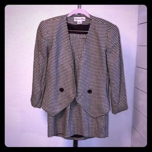 Christian Dior 2 Piece Skirt and Jacket Set